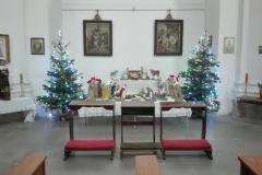 Vánoční výzdoba farního Chrámu sv. Vojtěcha v Ústí nad Labem